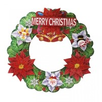 Gantungan Natal Krans Karton Bunga 3D