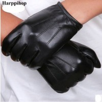 Sarung Tangan 17 - Hitam dan brown Musim Semi Asli Sarung Tangan Kulit
