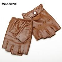 Sarung Tangan 36 - Kulit asli Setengah Jari Sarung Tangan Pria Musim P