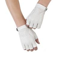 Sarung Tangan 68 - Baru Putih Asli Kulit Sarung Tangan Pria dan Wanita