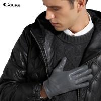 Sarung Tangan 38 - Gours Musim Dingin Asli Kulit Sarung Tangan Pria Me