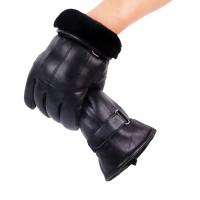 Sarung Tangan 58 - Pria Real Kulit Sarung Tangan Musim Dingin Sarung T