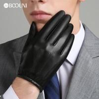 Sarung Tangan 19 - BOOUNI Pria Sarung Tangan Kulit Asli Musim Gugur Mu