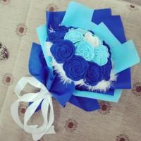 Buket Bunga Mawar Flanel untuk hadiah wisuda, hadiah ultah, anniv, dll