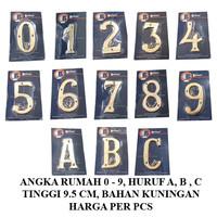 Nomer rumah 0-9, A,B,C