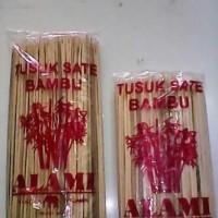 Tusuk Sate Pentol Ayam Kambing - Bahan Bambu Pendek