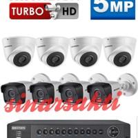PAKET CCTV HIKVISION 16 CHANNEL 5MP REAL ( KOMPLIT TGGL PSG )8 CAMERA