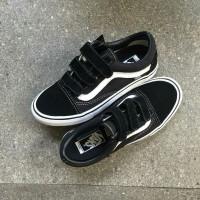 Vans Oldskool Velcro Pro Black White Original 100% Guarantee
