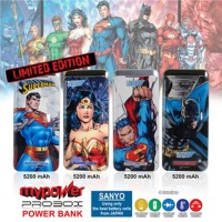 Powerbank Sanyo Probox Justice League 5200mAh (DC Comic Ed Byba1212