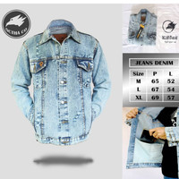 Jaket Jeans Original Octha Blue Navy Pria