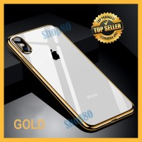 Soft Case iPhone X XS Max XR Silicone Chrome Plating Silicon Softcase