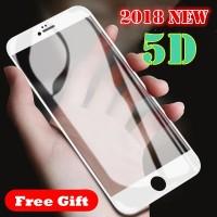 A 73 - 2018 Baru 5D Penuh Cover Tempered Glass untuk iPhone 6 6 S 7 Pl