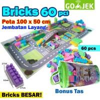 Lego Murah Ukuran Besar + Jalanan Lego (Maps) - 60 Pcs