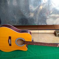 Gitar akustik elektrik eq7545r jumbo