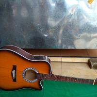 Gitar akustik elektrik jumbo sunbers