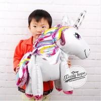Standing balon kuda pony / unicorn 3D full body / balon foil pegasus