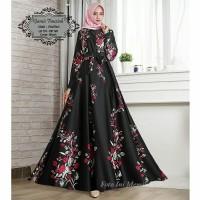 Gamis Fauziah Bahan Wolfis Premium , (Ld 110 cm, Pj 140 cm, Lebar 4