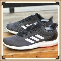 Sepatu Adidas Cosmic II Black White Sneakers Running Casual Original