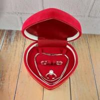 Set Kotak Perhiasan / Jewelry Box / Kotak Kalung, Anting dan Cincin Ma