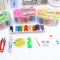 Set Peralatan Benang Jarum Sewing Box 120set Multifungsi Set Alat Jait