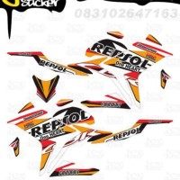 D87 Decal Sticker All New CBR150R Striping Repsol decal motor stiker