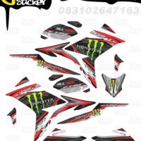D80 Decal Sticker All New CBR150R Striping Monster Energy decal motor