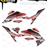 N19 Decal Sticker XABRE Striping Techno decal motor stiker