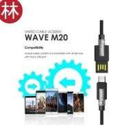 New model UNEED UCB20M Wave M20 Kabel Data Micro USB Fast Charging