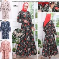 Maxi Emma - Busana / Pakaian Wanita Muslim - Gamis Dress Syari Murah