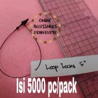 Loop pin 5 inch / tali label baju / tali hang tag baju plastik 5000 PC