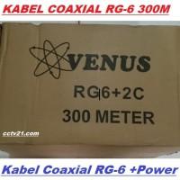 Harga Grosir-Kabel Coaxial VENUS RG-6 300 Meter Harga Promo