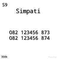Nomor Perdana Cantik Simpati Seri Urut Naik 123456 082 123456 873 S10