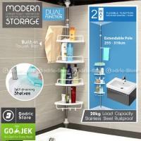Rak Gantung Corner Toilet Organizer Tempat Sabun Shampoo Kamar Mandi