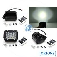 Lampu Tembak Sorot LED Bar CREE Motor 12 Titik Mata Tiga Susun 36 watt