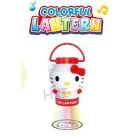 Lampu+Proyektor Model Lampion Hello Kitty Putih