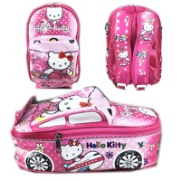 Tas Ransel Sekolah TK Hello Kitty 3D On The Road Tas Mobil