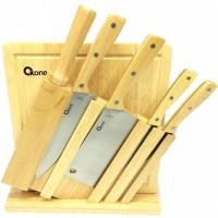 Oxone Wooden Knife Set - Pisau + Rak + Talenan OX-95 ( jl )