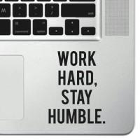 Stiker Aksesoris Laptop HP Work Hard Garskin Cutting Sticker Quotes