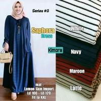 (Pic3) Saphora Dress @145.000 (white,navy,maroon,latte) lemon skin imp