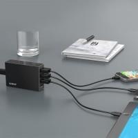 Orico CSL-4U USB Desktop Charger 4 Port EU Plug 6.8A Black