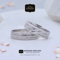Cincin Kawin Tunangan Couple Emas Putih + Silver WG087S