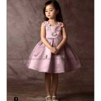 Dress Pesta Anak B2W2 Sequin Pink|Dress Korea Anak Murah Import