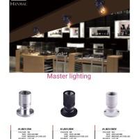 L-801 lampu downlight led mini kecil 1w spotlight sorot puter arah - Putih