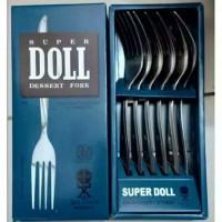 SUPER DOLL Garpu/Sendok Makan isi 6pcs- produk original