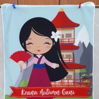 Selimut bayi custom nama / Japan girl