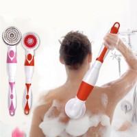 4 In 1 Electric Pembersih Badan Set Sikat Panjang Handle Massager