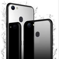 Case Oppo F7 Luxury Tempered Glass Premium Case - Hitam