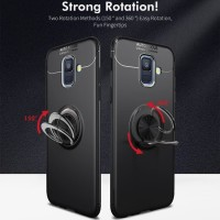 Samsung Galaxy A6 A6+ Autofocus Softcase Magnetic Ring Case Cover
