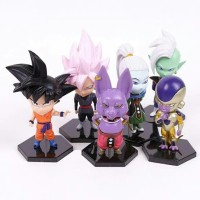 PVC Anime Dragon Ball Super Battle Of Champion Chibi Figure Set