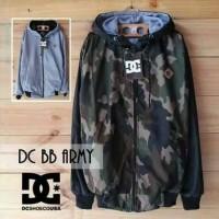 jaket Parasut Army DC Loreng hijau hitam Bolak Balik / Jaket BB